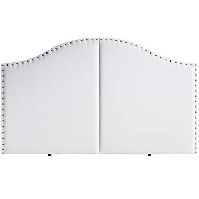 Marckonfort Tête de lit Lyon avec des punaises 160X95 Blanc 663405e30cfb