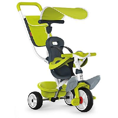 Smoby - 741100 - Tricycle Baby Balade 2 - Tricycle Evolutif avec Roues Silencieuses - Dispositif Rou