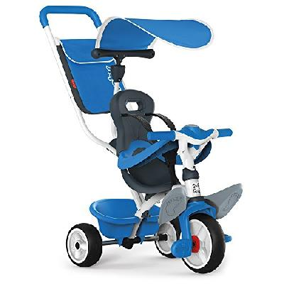 Smoby - 741102 - Tricycle Baby Balade 2 - Tricycle Evolutif avec Roues Silencieuses - Dispositif Rou