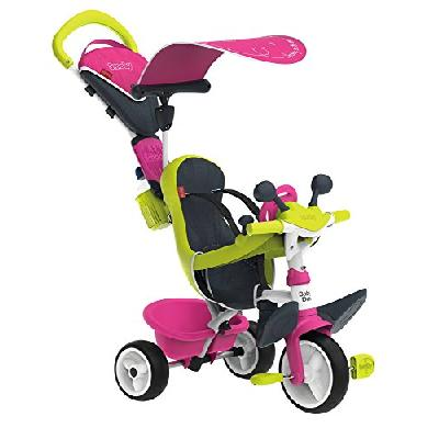 Smoby - 741201 - Tricycle Baby Driver Confort 2 - Tricycle Evolutif avec Roues Silencieuses - Dispos