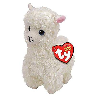 Ty - TY41216 - Beanie Babies - Peluche Lily le Lama 15 cm