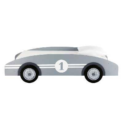 Lit voiture enfant 90x190 gris