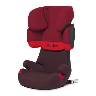 CYBEX Siège auto Isofix Groupe 2/3 Solution X-Fix - Rumba Red