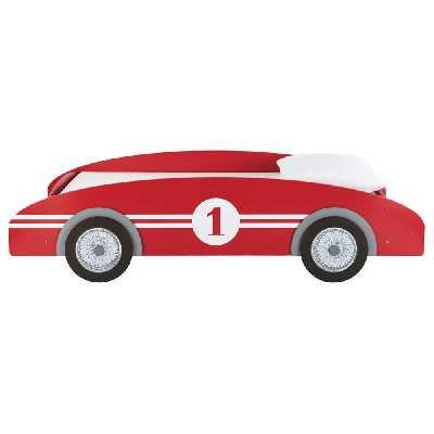 Lit voiture enfant 90x190 rouge