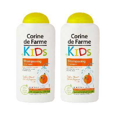 Lot de 2 Shampooings Kids Extra Doux parfum Abricot