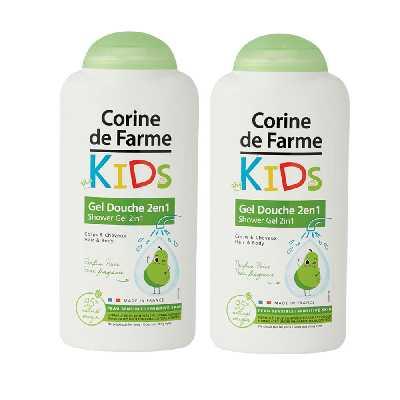Lot de 2 Gels Douche Kids 2en1 Corps & Cheveux parfum Poire