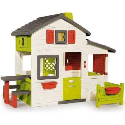 Maison Friends House en plastique anti-UV SMOBY avec Sonnette Incluse