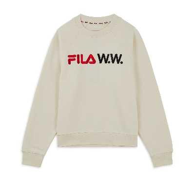 Sweat Fila X Woodwood Femme  Beige
