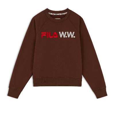 Sweat Fila X Woodwood Femme  Marron