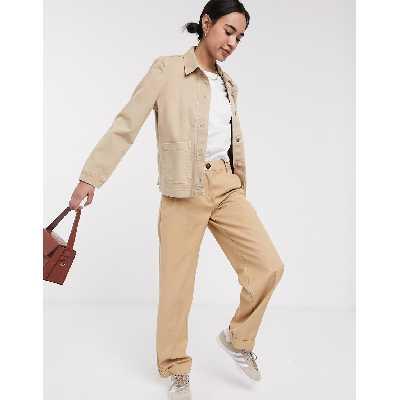Selected Femme - Veste en jean avec poche - Beige