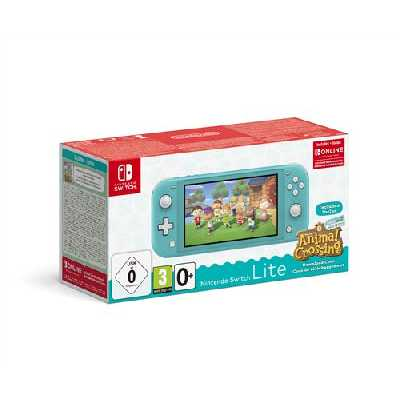 Pack Console Nintendo Switch Lite Turquoise + Animal Crossing : New Horizon + 3 mois d'abonnement N