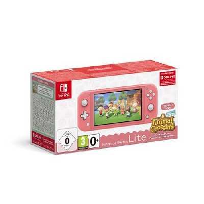 Pack Console Nintendo Switch Lite Corail + Animal Crossing : New Horizon + 3 mois d'abonnement Nint