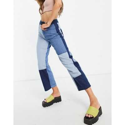 Whistles - Jean d'ensemble effet patchwork - Bleu jean