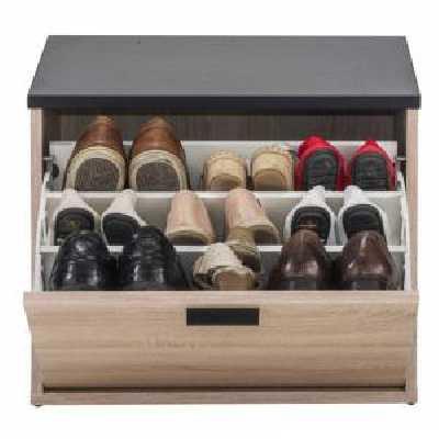 Simmob Banc Coffre à Chaussures 9 Paires