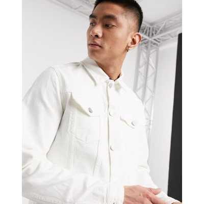 Selected Homme - Veste en jean - Blanc