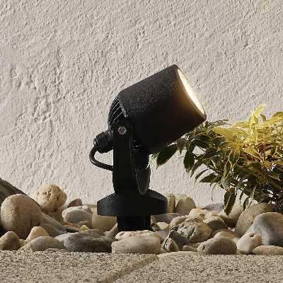 Lampe à piquet Minitommy 1 lampe CCT noire/givrée