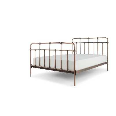 Starke, lit king size (160 x 200) avec sommier, cuivre