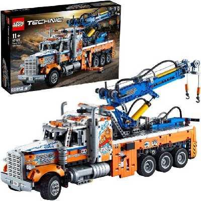 LEGO® 42128 Technic Le Camion de Remorquage Lourd Camion Jouet avec Grue, Jouet de Construction pour