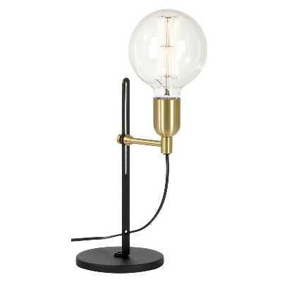 Lampe à poser Étagère noir/laiton 1 lampe