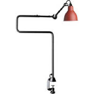 Lampe de table N°211-311 / Lampe d'architecte - Base étau / Lampe Gras - DCW éditions rouge en mé