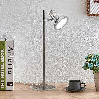 Lindby Kajetan lampe à poser LED, nickel, 1 lampe