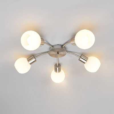 Plafonnier LED Plafonnier LED Elaina, nickel mat