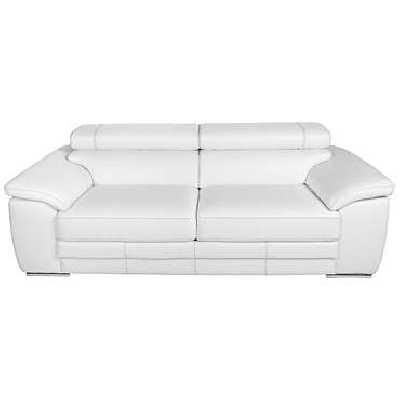 Canapé droit fixe 3 places LINCOLN coloris blanc