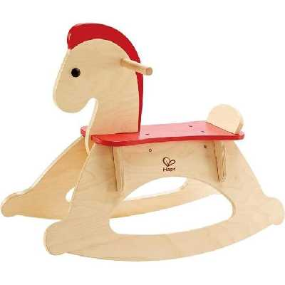 HAPE  Jouet d'éveil en bois - Cheval en bois à bascule évolutif