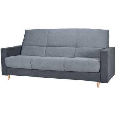 Canapé-lit clic clac  JUSTIN coloris gris/anthracite