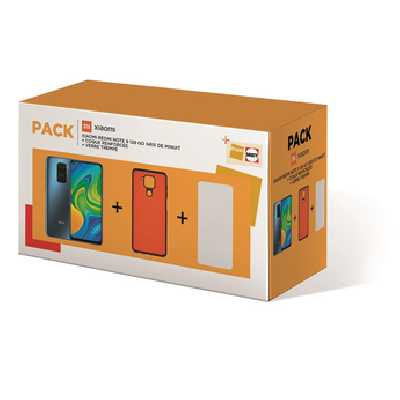 Smartphone Xiaomi Pack XIAOMI Redmi note 9 128Go Gris +Coque +Protection Ecran