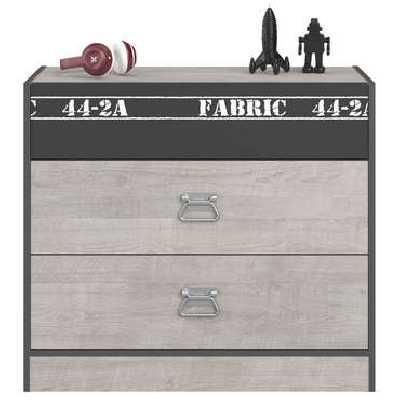 Commode 3 tiroirs ROCK coloris gris