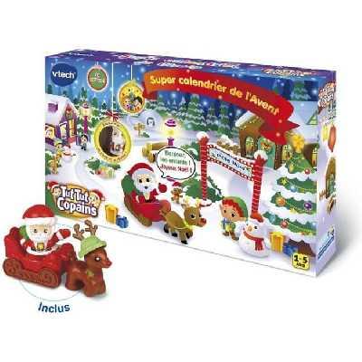 VTECH - Tut Tut Aventures - Super Calendrier du Père Noël - Calendrier de l'Avent