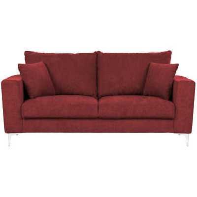 Canapé droit 2,5 places CHLOE coloris rouge