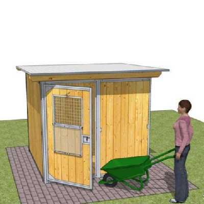 Abri en kit RUSTICA GARDEN pour chien - Abri de jardin