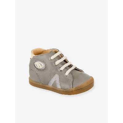 Bottillons sneakers cuir bébé garçon B2 Babybotte® gris
