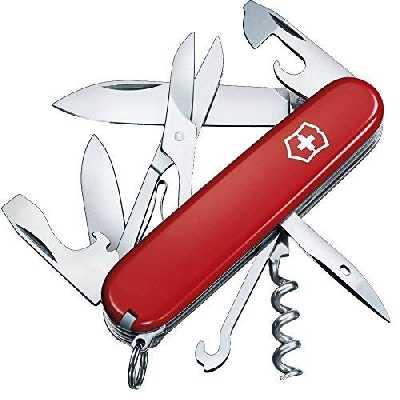 Victorinox Climber Couteau de Poche Suisse, Léger, Multitool, 14 Fonctions, Lame, Ouvre Boite, Rouge
