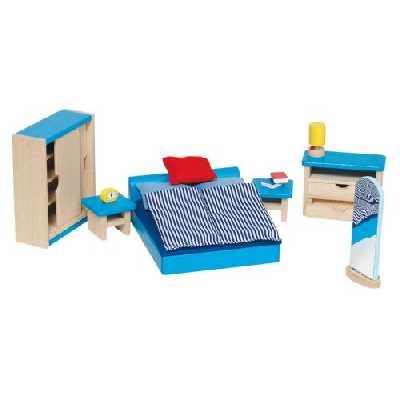 Goki - 51906 - Mobilier de chambre à coucher pour maison de poupées - 16 pièces