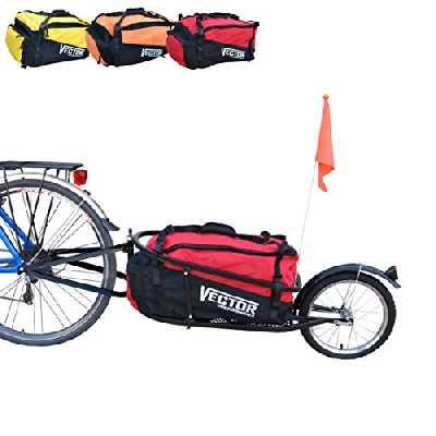 Vector Remorque vélo à monoroue pour Le trasport Bagages cyclotourisme Cargo de (Rouge)