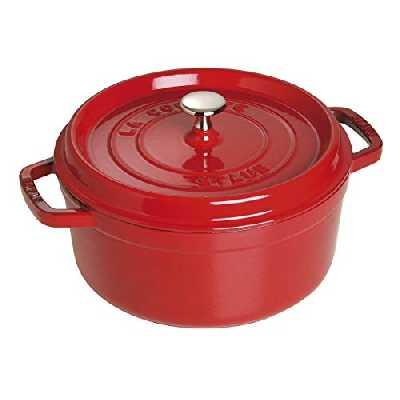 STAUB Cocotte en Fonte, Ronde 26 cm, 5 L, Rouge Cerise