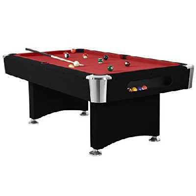 Arcade Jeux - Billard Boston - Jeu 8 Pool américain - Fabrication de Haute qualité - 216,5x119x51 - Noir
