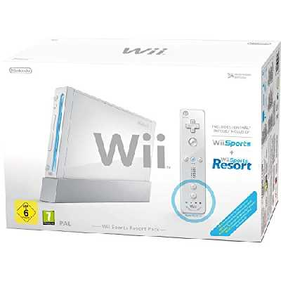 Console Wii blanche + Jeux Wii Sports + Wii Sports Resort