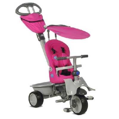 Smart Trike Tricycle pour Enfant Recliner Rouge, 1911200