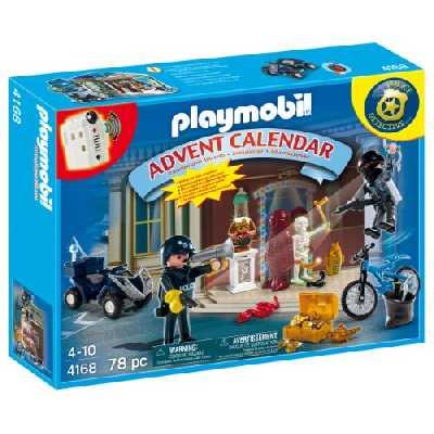 Playmobil - 4168 - Calendrier de L'Avent - Policier et Voleur d'antiquités avec Surprises