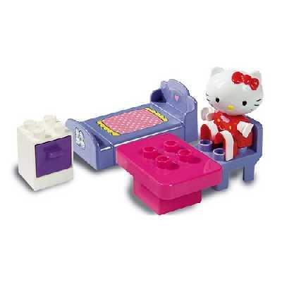 WDK PARTNER - A1301826 - Jeux de construction - Briques de construction Hello Kitty - Modèle aléatoire