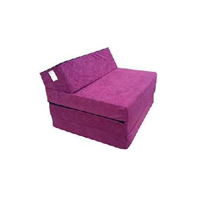 Matelas lit fauteuil futon pliable pliant choix des couleurs - longueur 200 cm ( 1224-Violet)