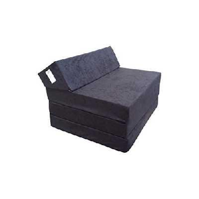 Natalia Spzoo Matelas lit Fauteuil futon Pliable Pliant Choix des Couleurs - Longueur 200 cm (0001-Noir)