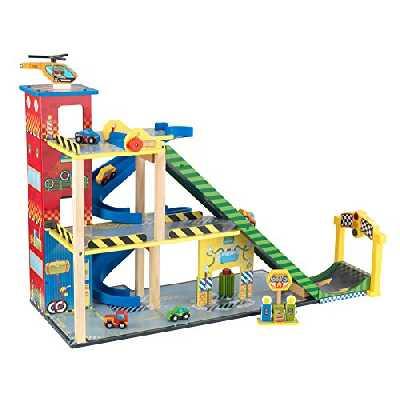 KidKraft- Jeu de Construction Ensemble Rampe Voiture de Course, 63267, Multicolore