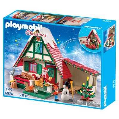 Playmobil - 5976 - Jeu De Construction - Maisonnette Du Père Noel