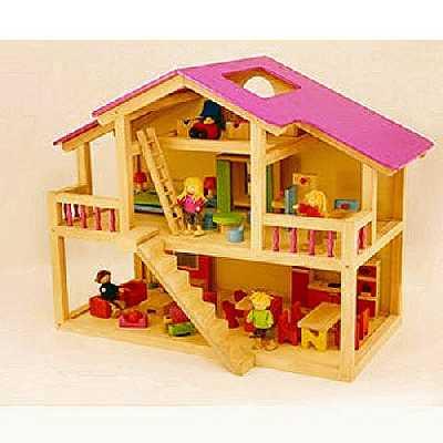 Djeco - 20945 - Maison De Poupées - Loft en Bois