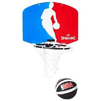Spalding - 77602Z - Mini Panier Basket - Ballon Inclus - Mixte Adulte - Multicolore (bleu/blanc/rouge) - 29 cm x 24 cm